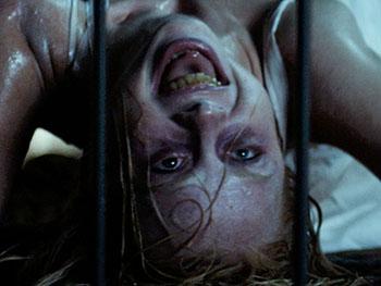 Hannah Grace (Kirby Johnson) possessed in Screen Gems THE POSSESSION OF HANNAH GRACE.