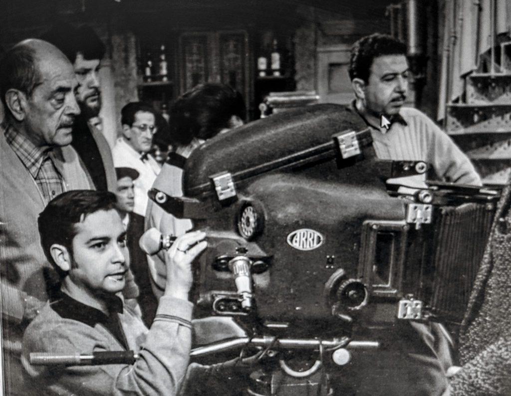 1-Lion-Depetre, bajo su maestro Buñuel durante el rodaje de Tristana